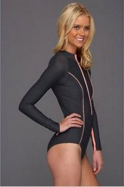 Rip Curl Cut Out Back Full Rashguard Wetsuit Springsuit Swimsuit Brand New Sz L