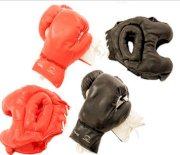2 Pairs Boxing Gloves & 2 Sets of Head Gears Brand 16oz to 20oz Pick Your Size