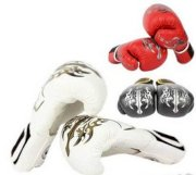 Pro Martial Arts MMA Muay Thai Traing Punching Sparring Boxing Gloves 18OZ/Pair