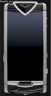Vertu Constellation T Black Alligator Skin, Diamond Trim