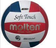Molten Soft Touch IVL58L-3 Leather Competition Volleyball Official USA logo
