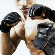 MMA Boxing Gloves Grappling Fight Sparring Kick Training Ultimate Mitts Punch