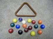 "Vintage Miniature Small Billiards Pool Table Balls * 16 ct. Partial Set 1 1/2""sz"