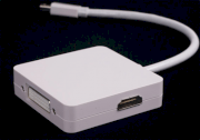 Mini DisplayPort, ThunderBolt to HDMI+DVI+DisplayPort