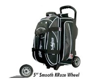 KR Lane Rover Double Roller Bowling Bag - Black/White