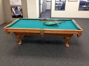 Solid Oak beautiful 8ft Brunswick Pool Billiards table excellent cond!!