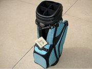 New Burton Ladies Golf Bag Siena Black/Blue Cart Golf Bag 4 Free Head covers