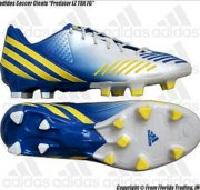 "Adidas Soccer Cleats ""Predator LZ TRX FG""(11.5)Running White/Blue Yellow G65168"