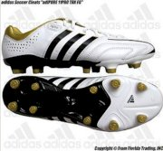 "Adidas Soccer Cleats ""PURE 11PRO TRX Leather FG""(11)White/Black/Gold Q23930"