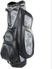 New Burton Golf Ladies Milano Cart Bag Black/Charcoal Print Womens