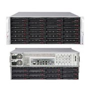 "Server Supermicro SuperStorage Server 6047R-E1R72L (SSG-6047R-E1R72L) (Intel Xeon E5-2600 family, RAM Up to 128GB DDR3 ECC Un-Buffered memory (UDIMM), HDD 72x 3.5"" SAS2/SATA3 HDDs in 36x (24 front + 12 rear) Hot-swap Drive Bays, 1280W)"