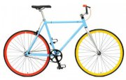 Critical Cycles Fixed-Gear Single-Speed Bicycle - Light Blue