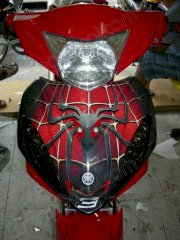 Dán decal xe Exciter Spider Man