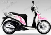 Dán decal xe Honda SH Mode 020