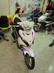 Dán decal xe Exciter Thunder Violet