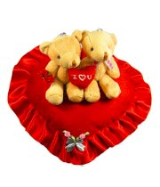 Tickles Valentine Couple in Love Teddy with Heart - 30 cm