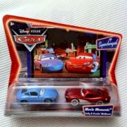 Supercharged Edition Movie Moments Sally And Cruisin' Lightning MC Queen Disney / Pixar Cars 1:55 Scale Die-Cast Vehicle 2 Pack