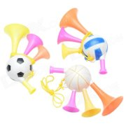2014 Brazil World Cup Fans Mini Horn Three Tubes Speaker - Red + Pink + Yellow (3 PCS Family Kits)
