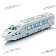 China High Speed Train CRH Toy with Colorful Lights & Sound Effect - Blue + White (3 x AA)