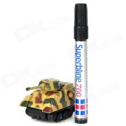 Magic Pen Inductive Line Following Tank Toy - Camouflage Color (4 x LR44)