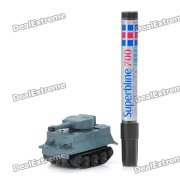 Magic Pen Inductive Line Following Tank Toy - Blue (4 x LR44)