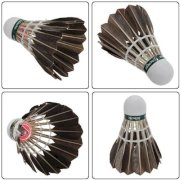 Meco 12x Training Black Goose Feather Shuttlecock Badminton Balls Birdies Game Sport