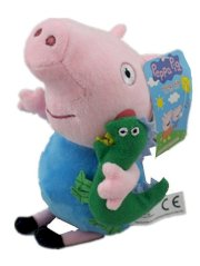 "New Large George PIG with Dinosaur 12"" Soft Plush Toys so Cute Gift"