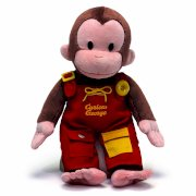 "Curious George Teach Me Toy 16"" Plush"
