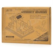 Solar Powered DIY 3D Sunny Home Style Wooden Puzzle Toy - Oyster White