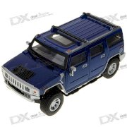 Mini Palm-Sized Hummer Vehicle Model with Blue Light and Sound Effects (1:32 Scale/3*L1154)