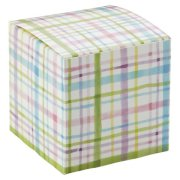 Watercolor Plaid Cube Gift Box