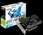 MSI N750-1GD5/OC (NVIDIA GeForce GTX 750, Ram 1GB GDDR5, 128-bit, PCI Express x16 3.0)