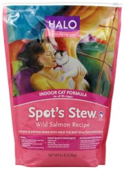 Halo Spot's Stew Natural Dry Cat Food, Indoor Cat, Wild Salmon Recipe, 6-Pound Bag