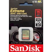 SDHC Sandisk Class 10 - Extreme 400X 16GB