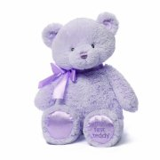 Gund Baby Gund My 1st Teddy Plush Toy, Lavender, 15""