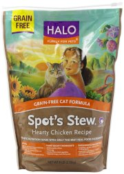 Halo, Purely for Pets Spot's Stew Natural Dry Grain-Free Cats Food, Hearty Chicken, 6-Pound Bag