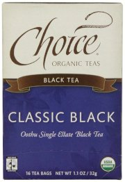 Choice Organic Black Tea, 16 Count Box