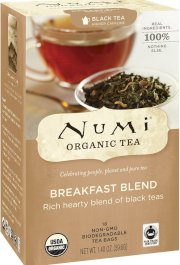 Numi Organic Tea Fair Trade Breakfast Blend, Black Tea, 18-Count Tea Bags (Pack of 3)