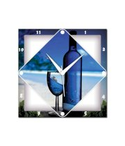 Amore Wine And Glass Wall Clock