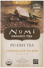 Numi Organic Tea Chocolate Puerh, Full Leaf Black Tea, 16-Count Tea Bags (Pack of 2)