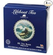 Lifeboat Tea, 80 Count 8.8-Ounce Boxes (Pack of 4)