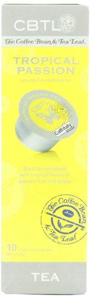 CBTL Tropical Passion Tea Capsules By The Coffee Bean & Tea Leaf, 10 Count Box
