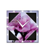 Amore Pink Cherry Blossom Wall Clock