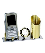 Antraa Table Top Watch Showpiece With Pen & Mobile Holder