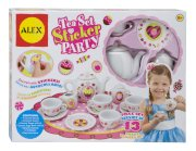 Children's 13 Piece Tea Set Party with Over 100 Decorate Yourself Stickers
