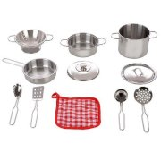 Just Like Home Stainless Steel Cookware Playset - Silver