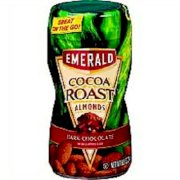 Emerald Cocoa Roast Almonds with Dark Chocolate Coating, 8.5 Oz., (4 Pack)