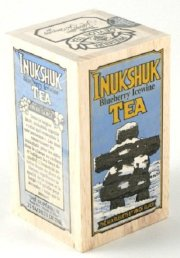 Specialty Gourmet Inukshuk Blueberry Icewine Black Tea Blend, 25 Bags in a Decorative Collectible Wooden Crate