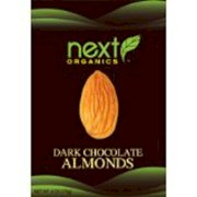 Next Organic Almonds Dark Chocolate Covered, 4-Ounce (Pack of 3)