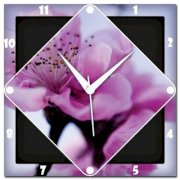 Amore Pink Cherry Blossom Analog Wall Clock (Pink)